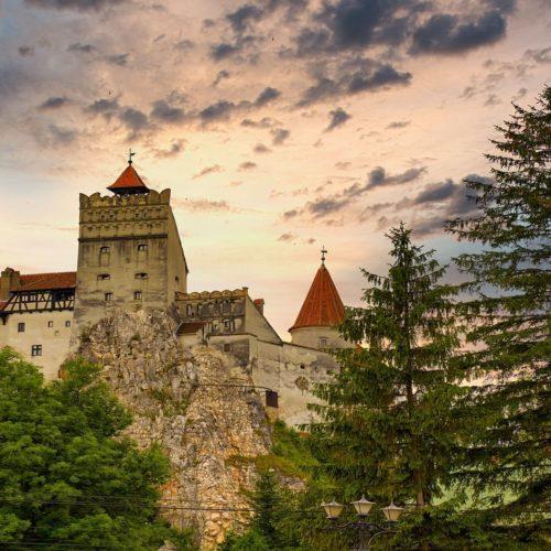 HERO Romania Bran Castle at Sunset