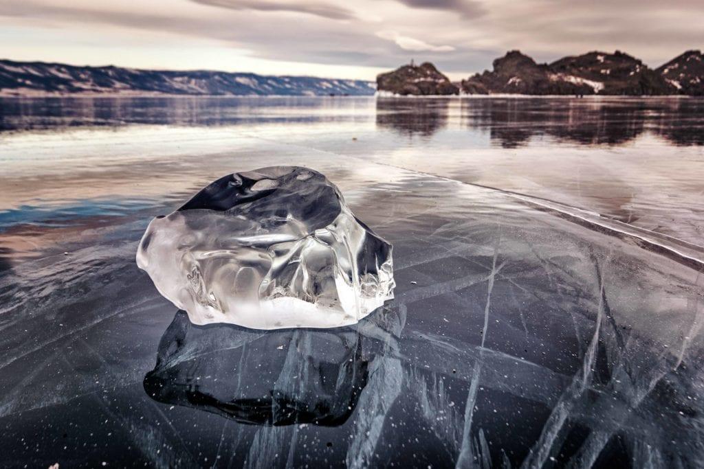 Russia Siberia Baikal frozen ice