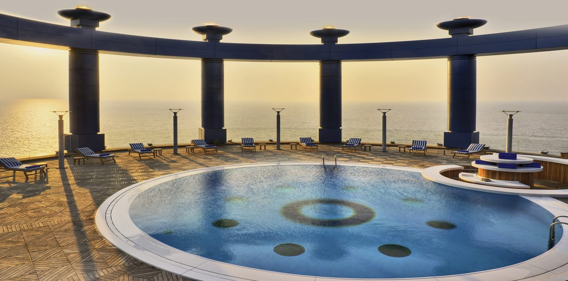 Saudi Arabia Jeddah Rosewood Roof Top Pool
