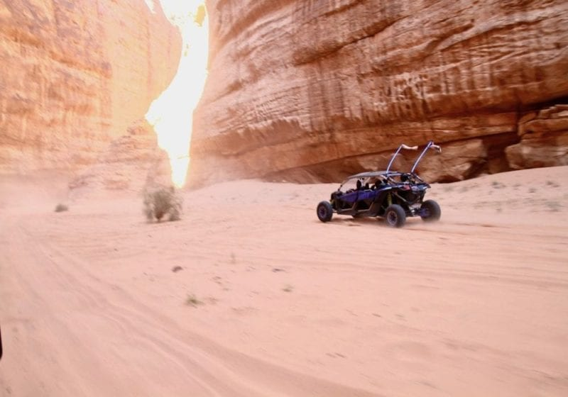 Drive through the desert with desert buggies