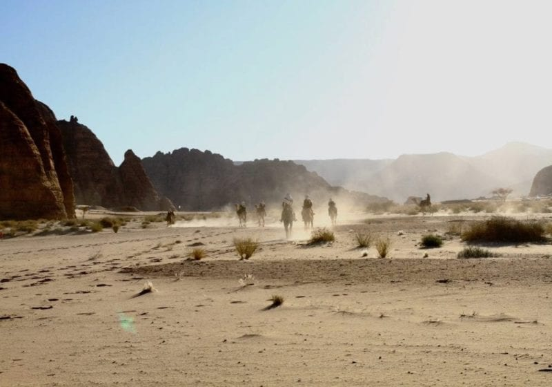 Ride horseback through the Saudi Desert