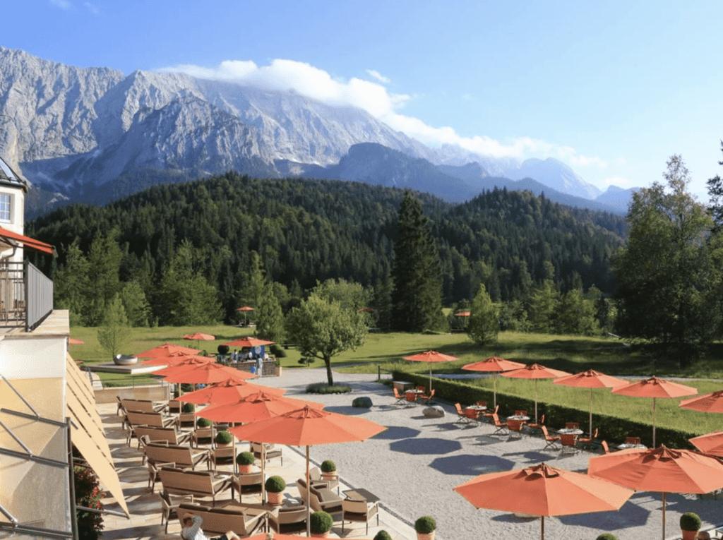 Schloss Elmau outdoor area view
