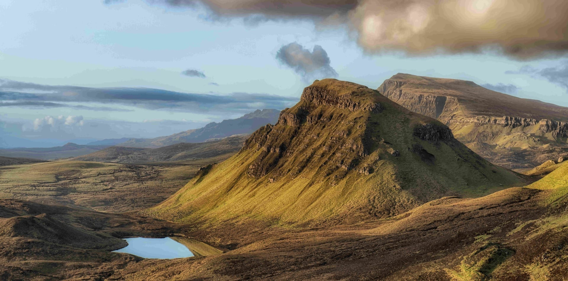 Verdant green Scottish highlands