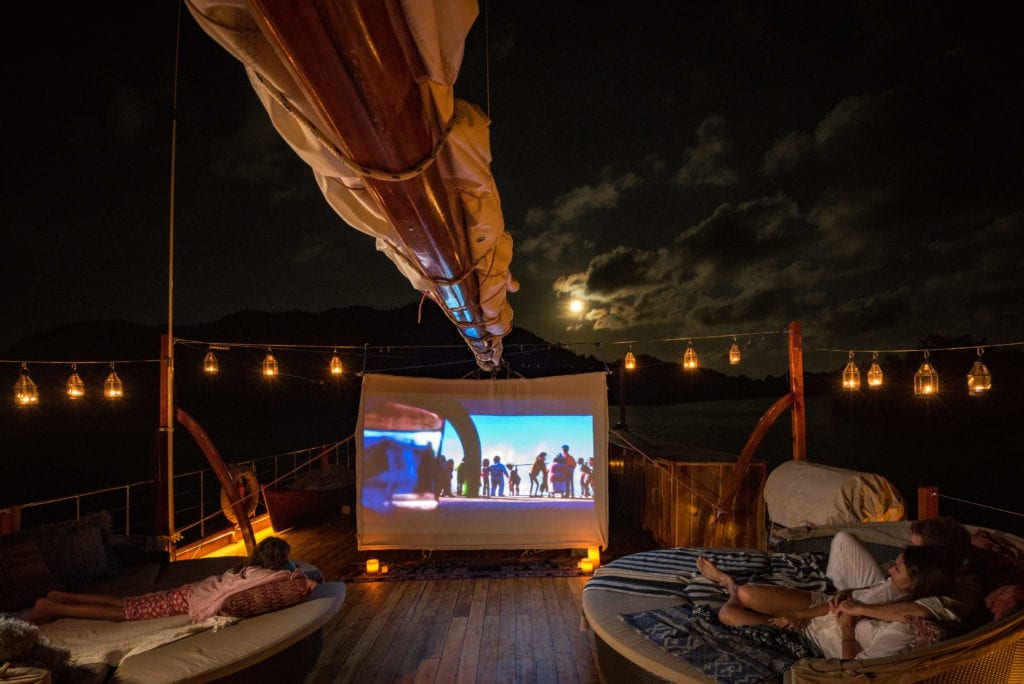 Outdoor cinema on Sequoia