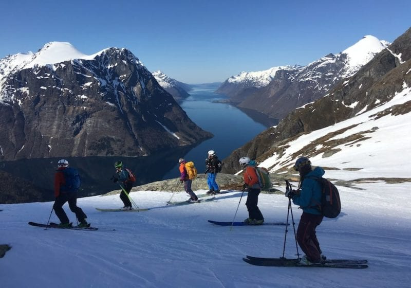 Skiing above the Fjords in Norway