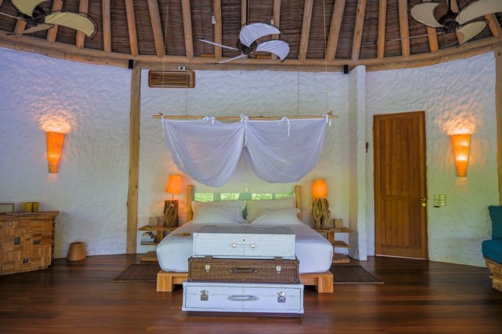 soneva fushi maldives villa interior bedroom