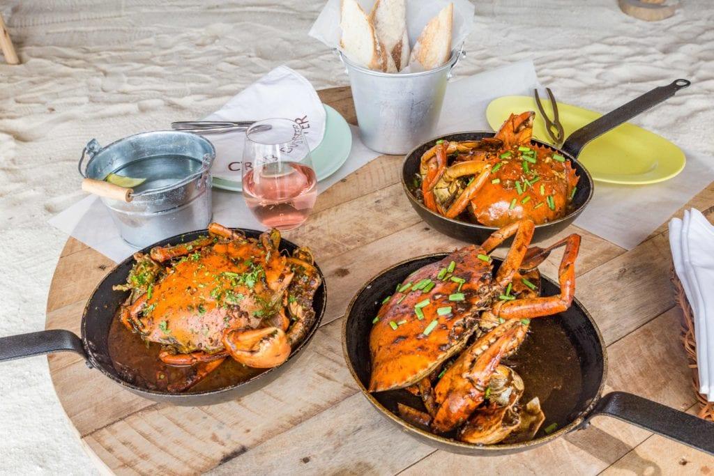 crab shack dish soneva jani maldives