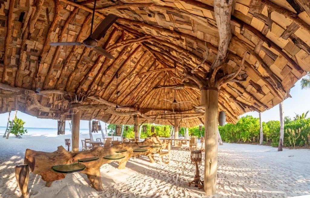 soneva jani beach shack maldives
