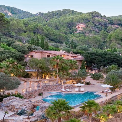 Spain LJs- Ratxo Resort pool and gardens