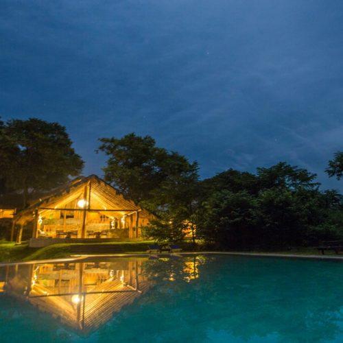 HERO Sri Lanka Gal Oya Lodge Pool Night