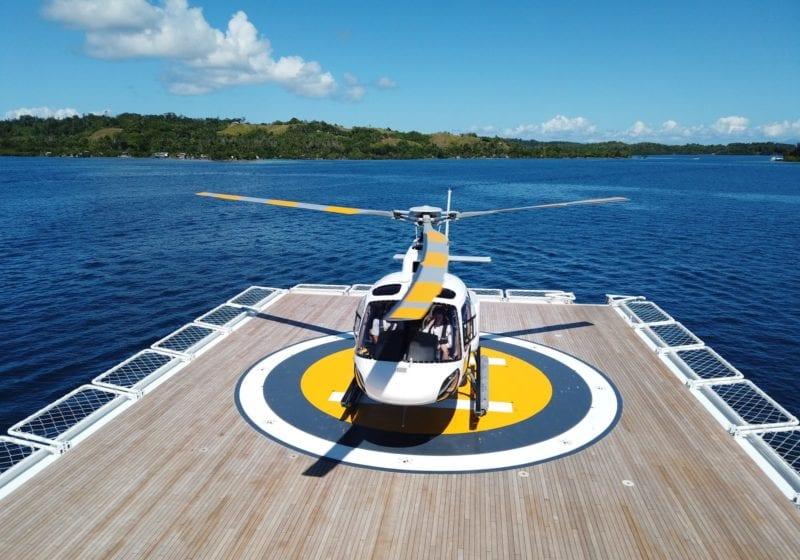 Heli-deck on Suri Yacht
