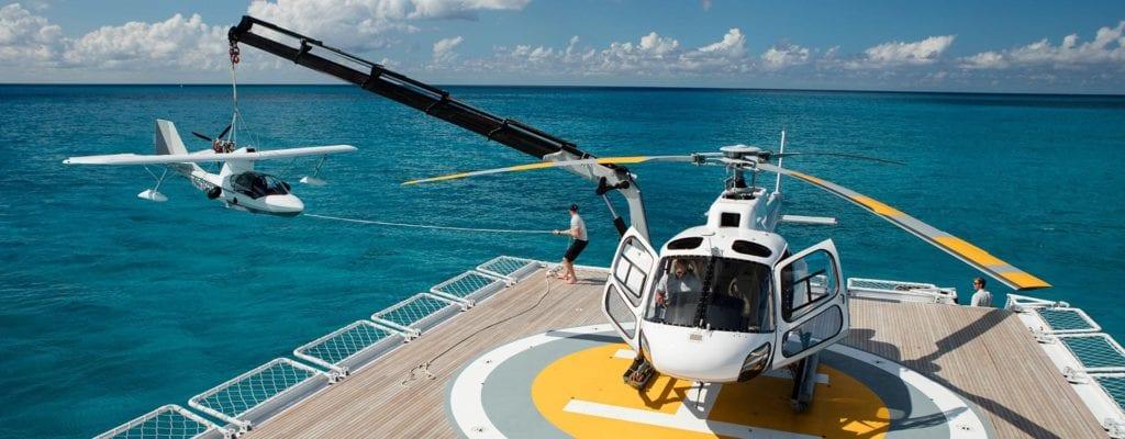 Heli-deck Operations on Suri Yacht