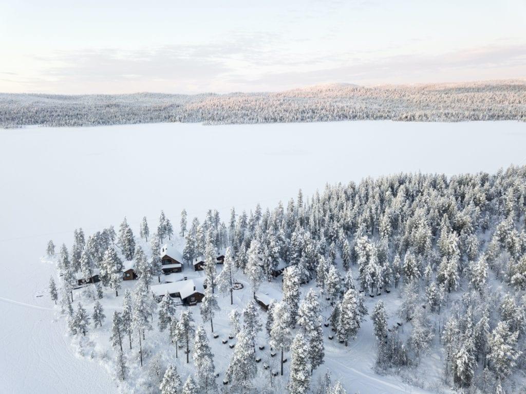 Sweden Arctic Lodge Aerial