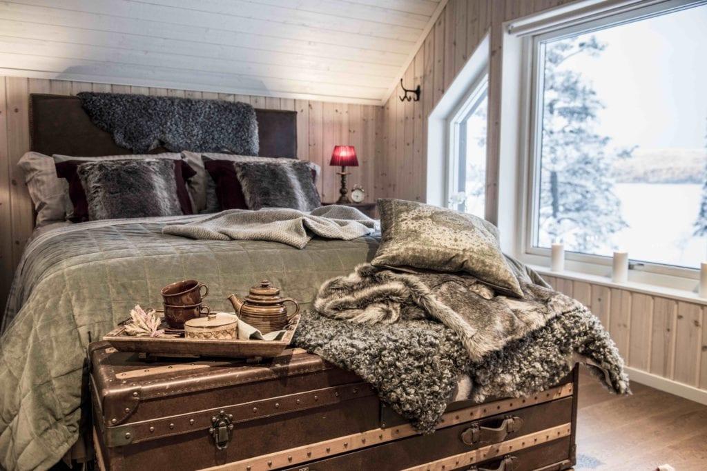 Sweden Arctic Lodge Bedroom