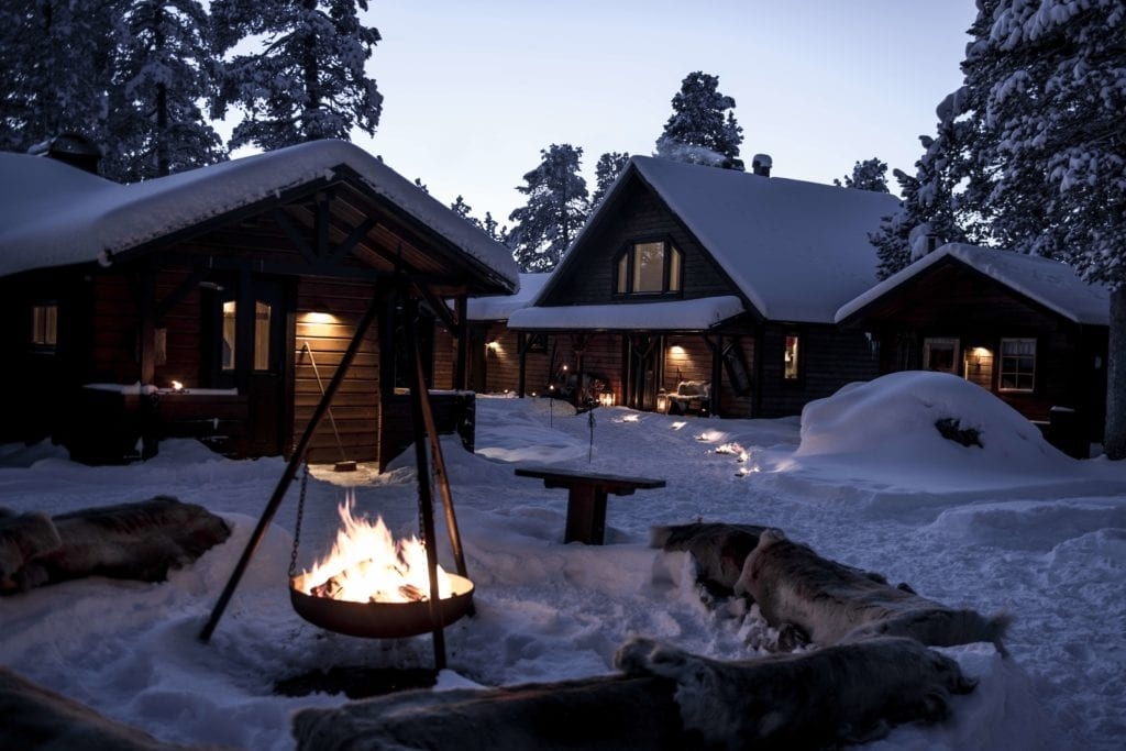 Sweden Arctic Lodge Campfire