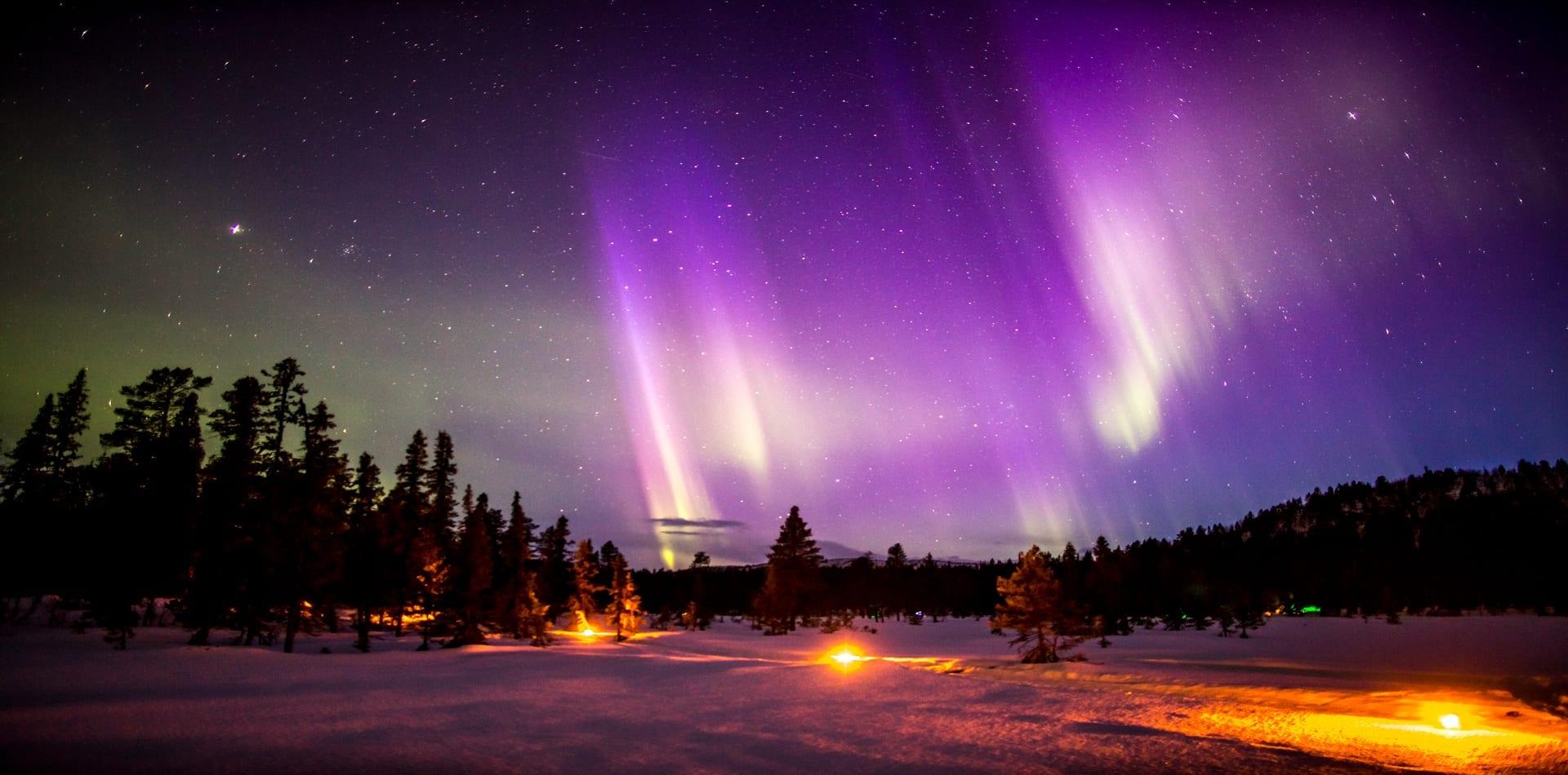 HERO Sweden Arctic Lodge Northern Lights