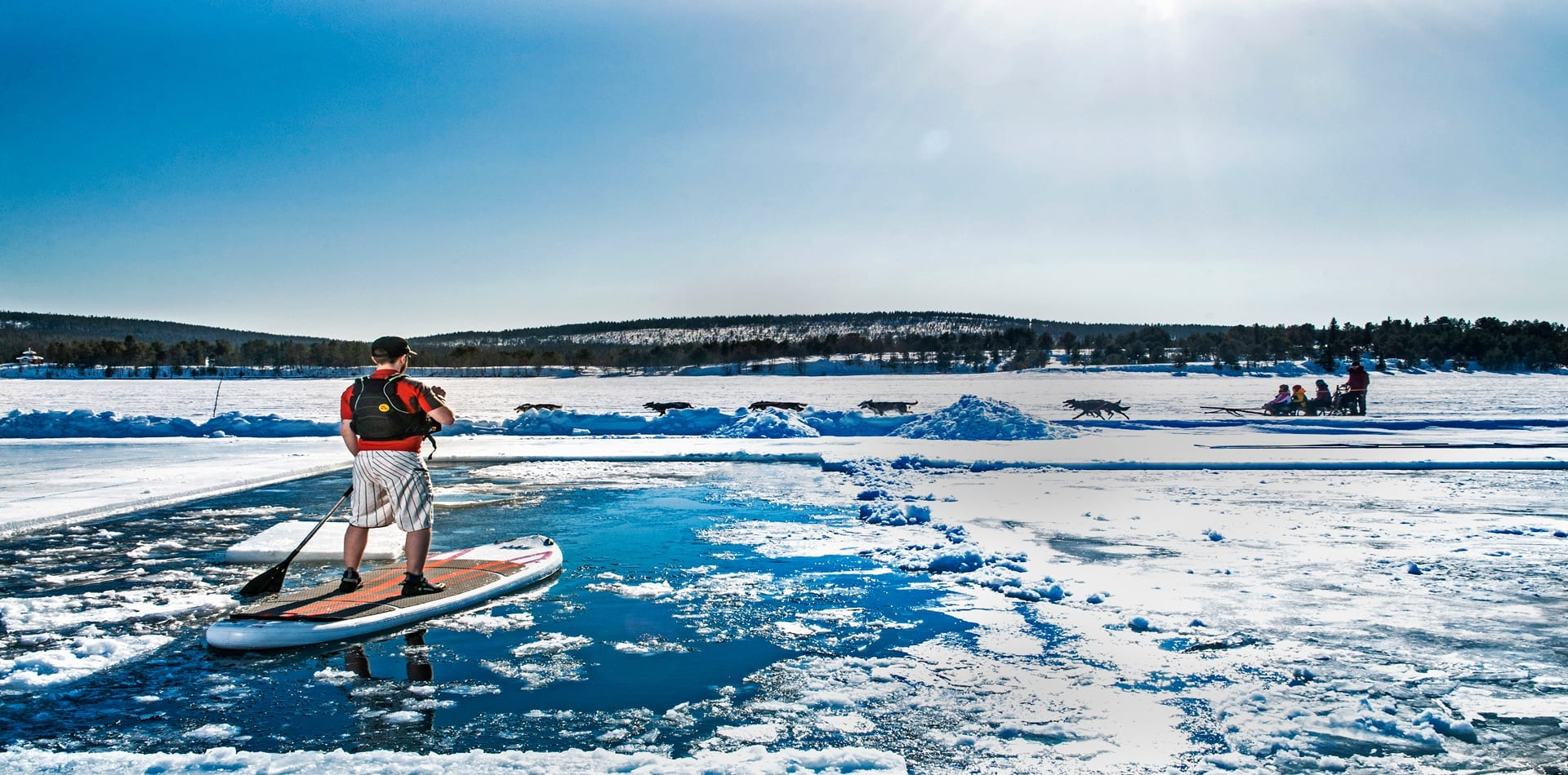 HERO Sweden Ice Hotel Paddle Boarding