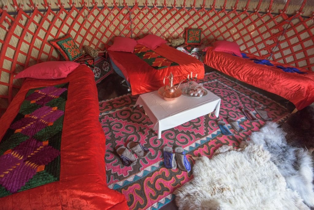 bedroom tash rabat yurt camp