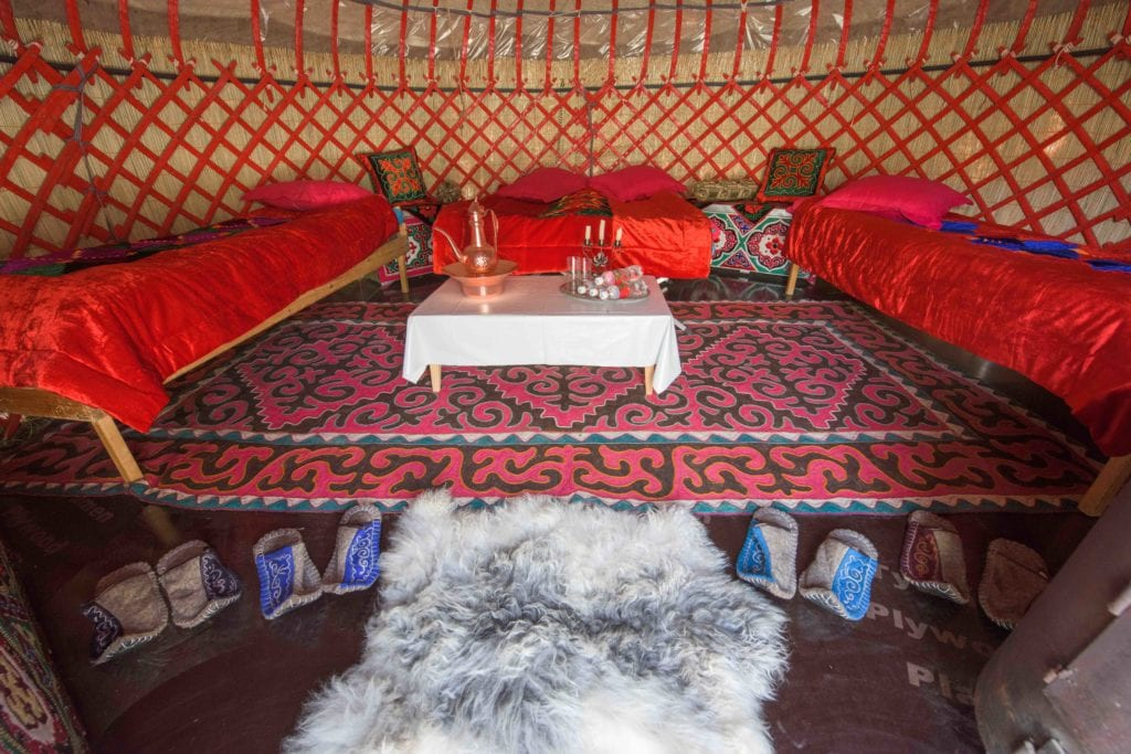 room interior tash rabat yurt camp