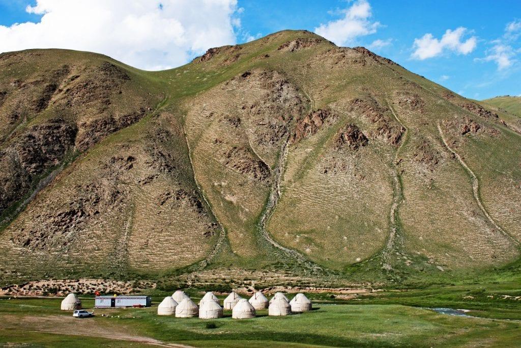 landscape tash rabat yurt camp