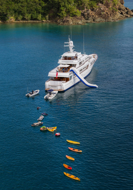 Aerial of Teleost Yacht and additional toys