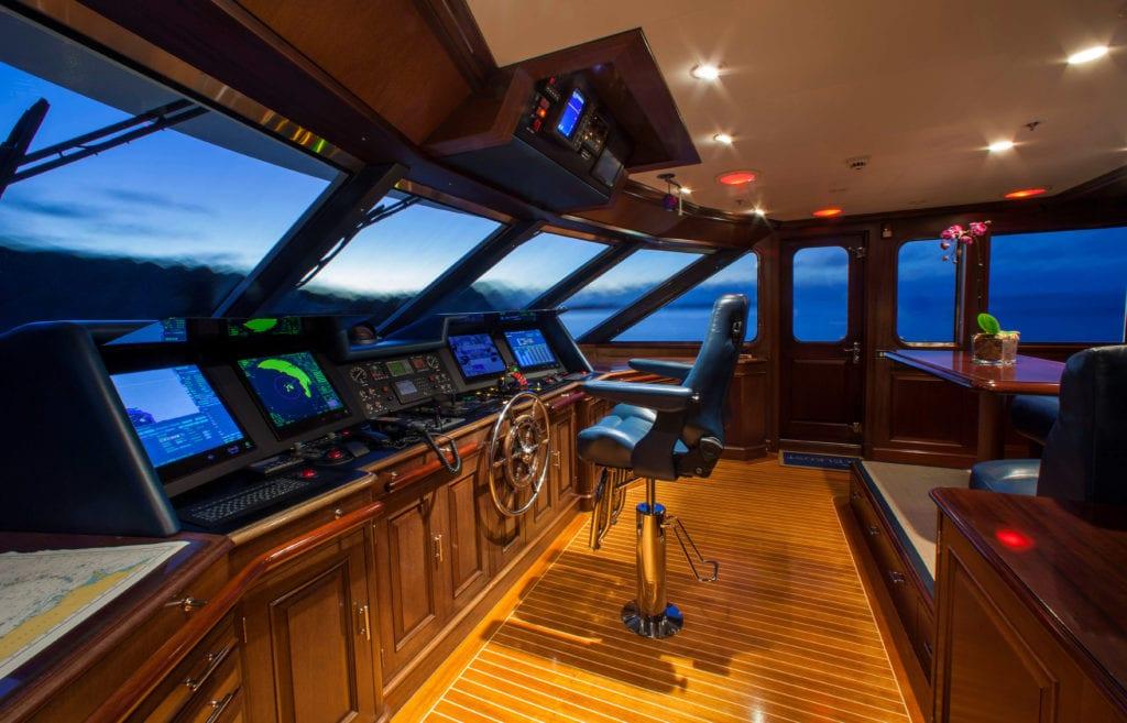 Bridge on board Teleost yacht