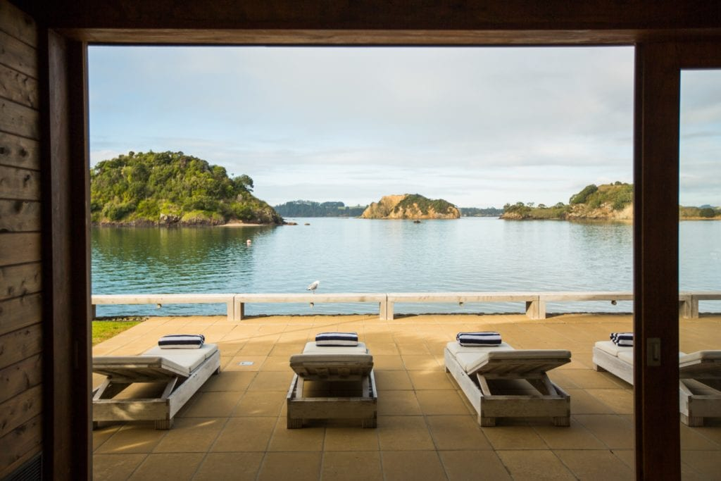 sunloungers lake view the landing new zealand