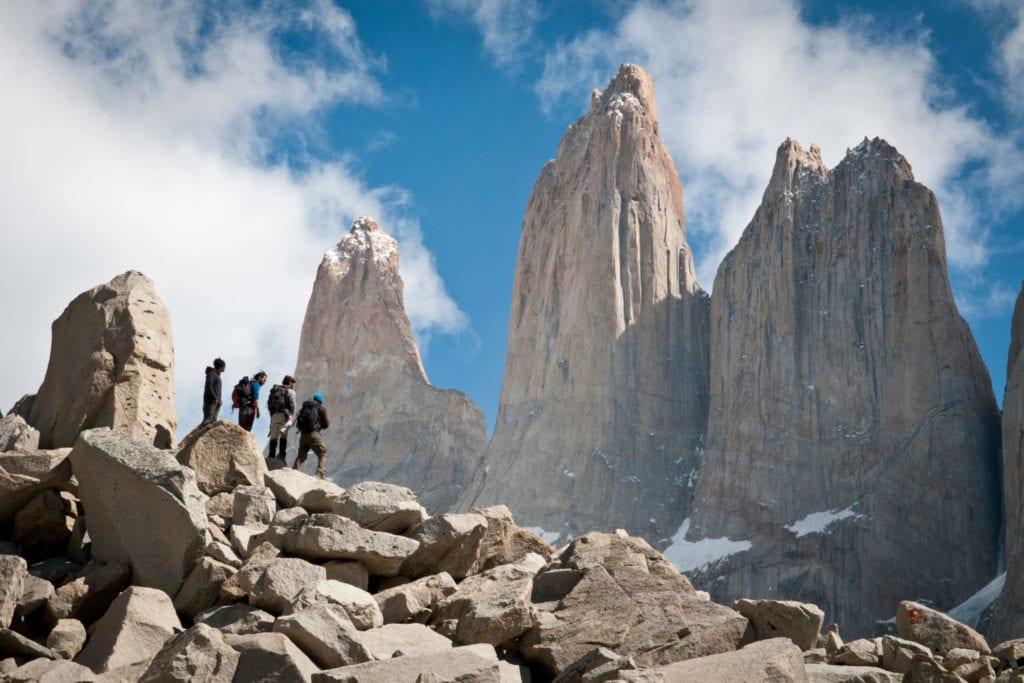 Trekkers in Torres Del Paine, Chile