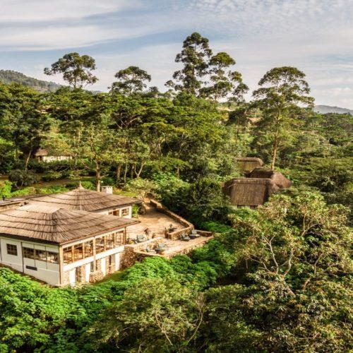 Bwindi Lodge Exterior Aerial View in Uganda