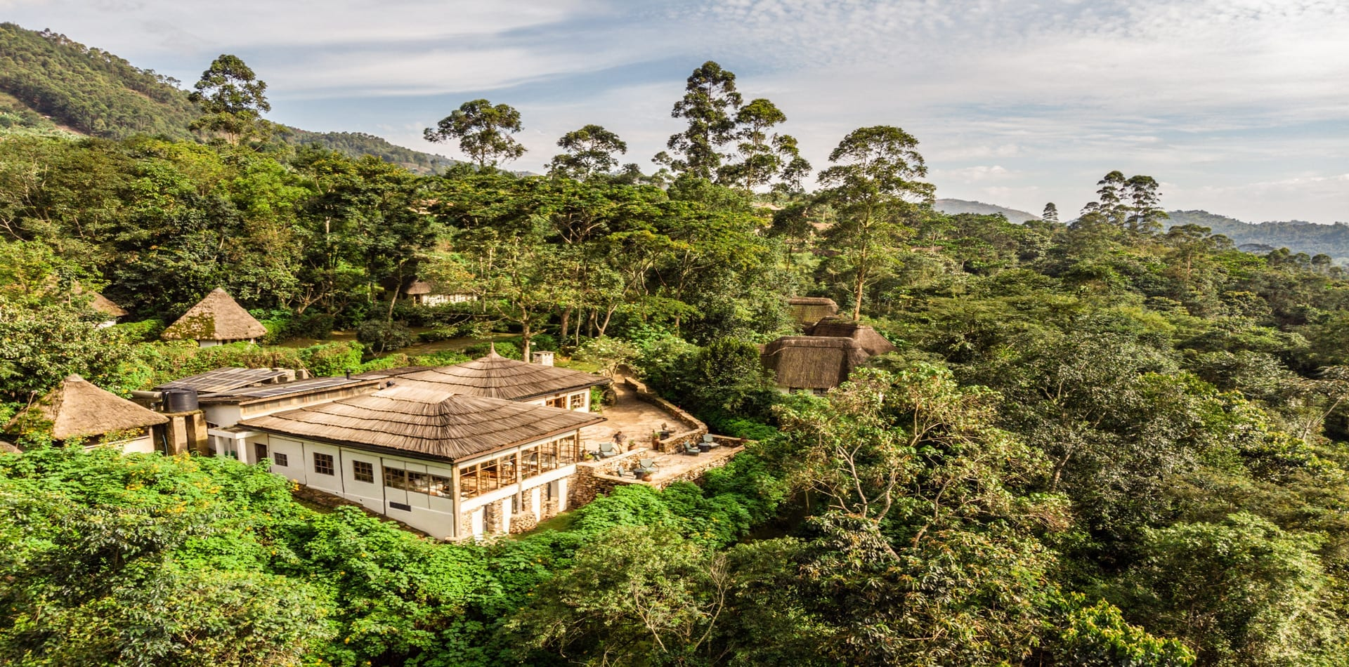 Bwindi Lodge Exterior Aerial View in Uganda