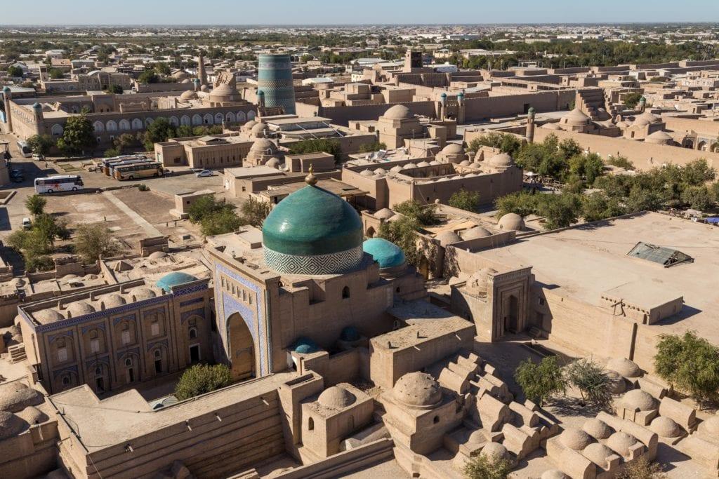 Aerial picture of Khiva Uzbekistan