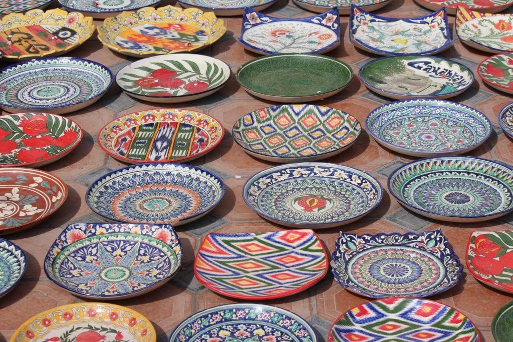 Ceramics in Tashkent Uzbekistan