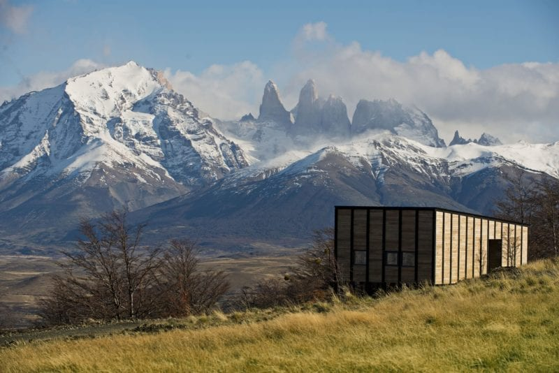 Villa looks out over the iconic peaks of Torres del Paine National Park