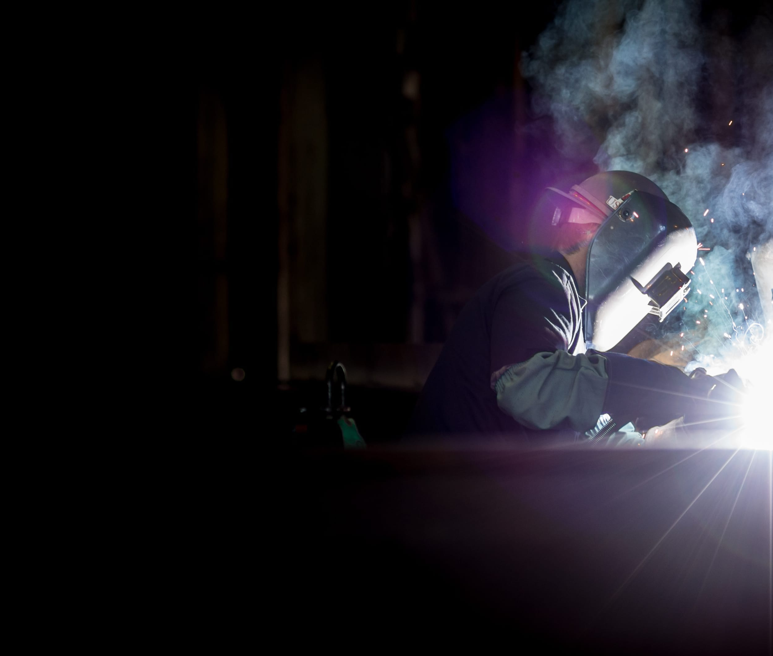 Welding in a Shipyard