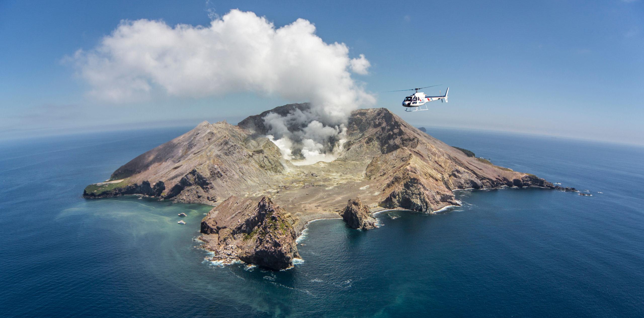 white island helicopter new zealand