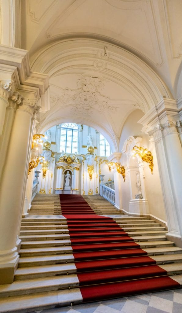 Stairwell in the Winter Palace in St Petersburg, Russia