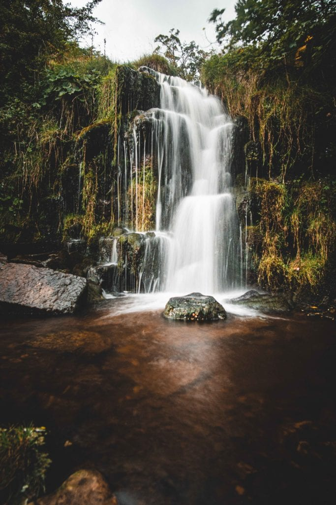 Waterfall in Yorkshire Landscape England