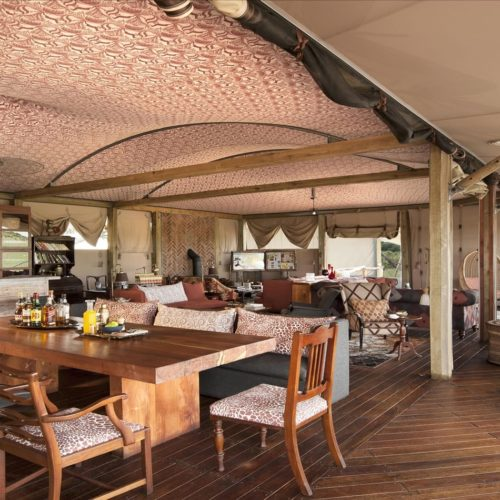 Zimbabwe Somalisa Camp Dining Area