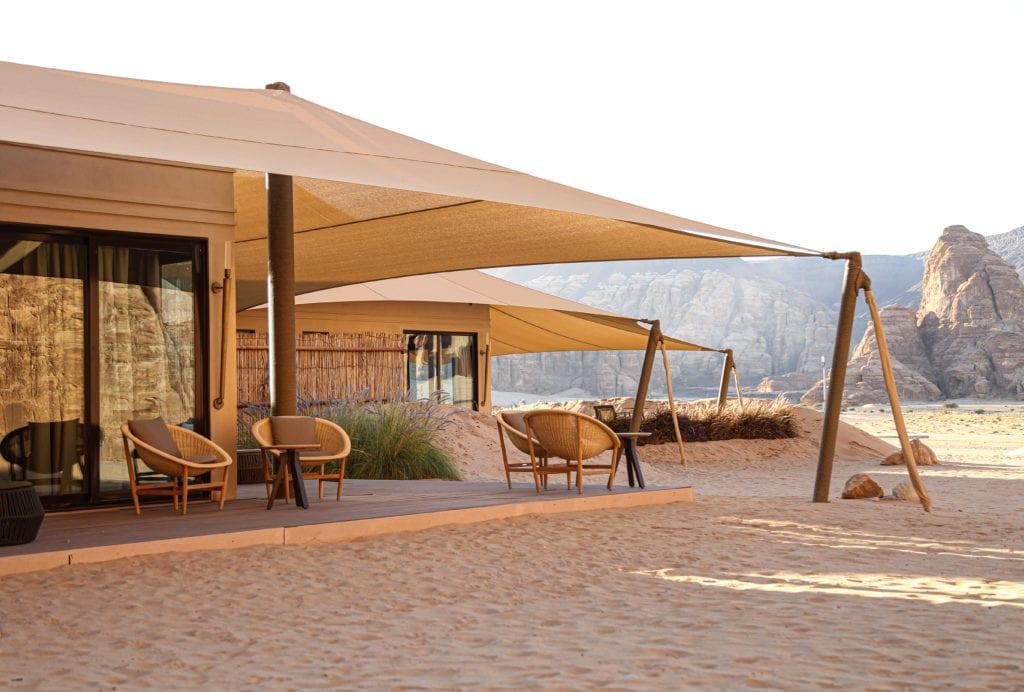 Ashar Resort Private Terrace Outdoor Seating Area Al Ula Saudi Arabia