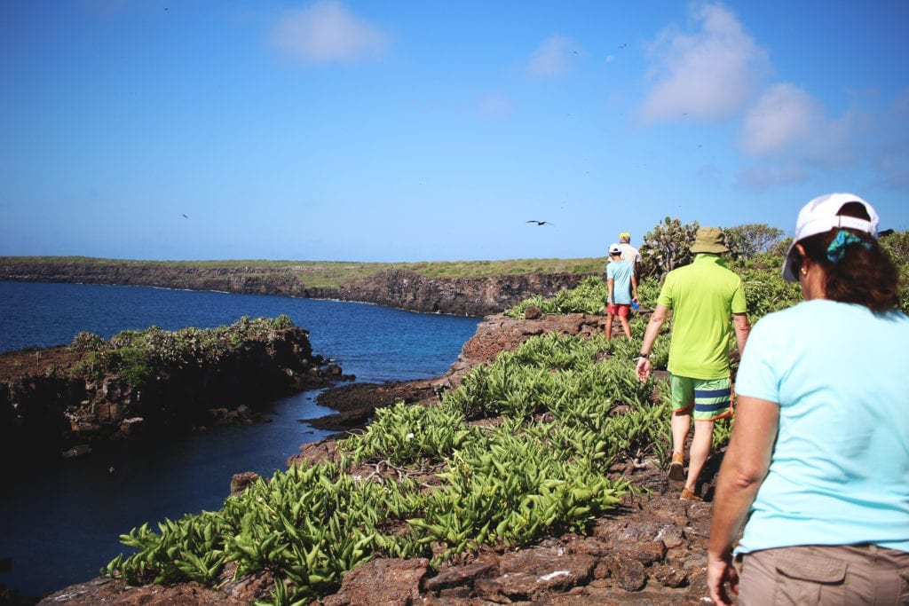 Hiking Family in Galapagos