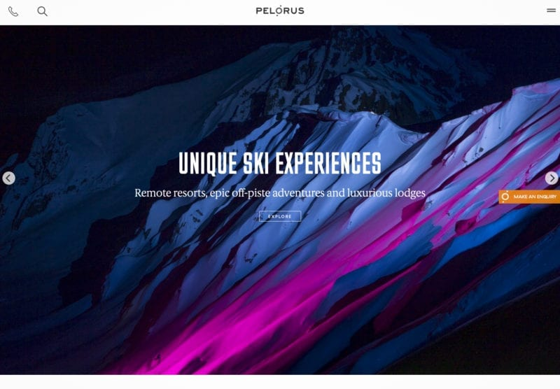 website Pelorus featured image block