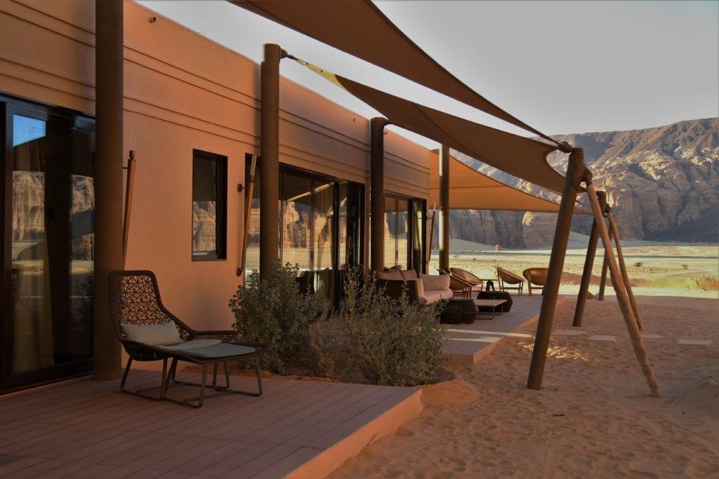 Shaded Terrace Area at Ashar Resort Al Ula Saudi Arabia