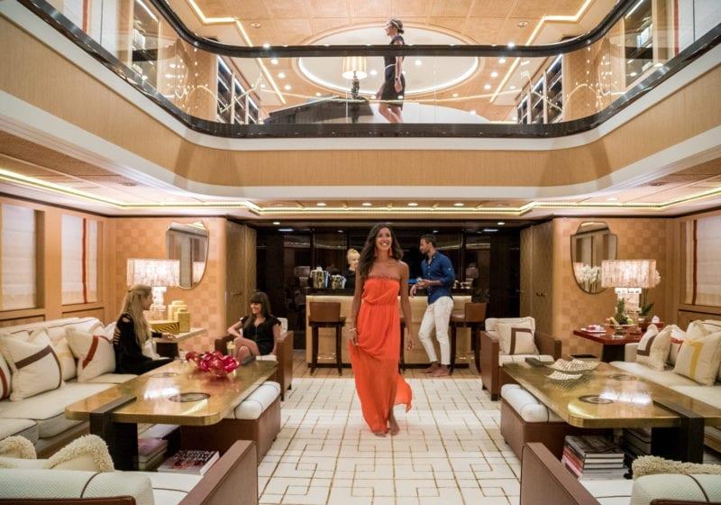 Main Salon Atrium on Axioma Yacht
