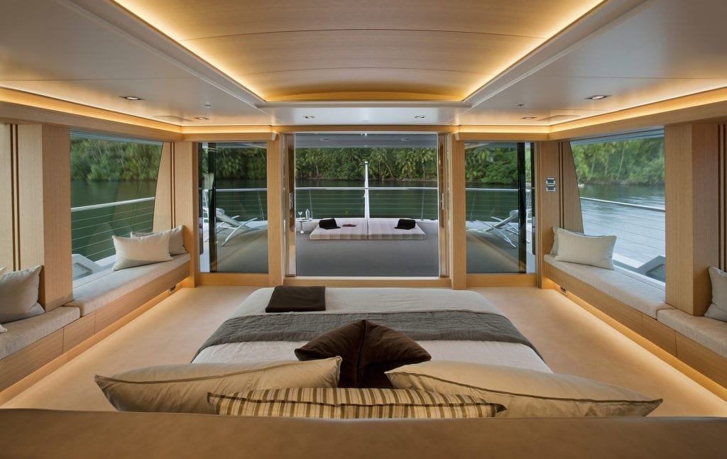 Master Cabin on board Big Fish Yacht