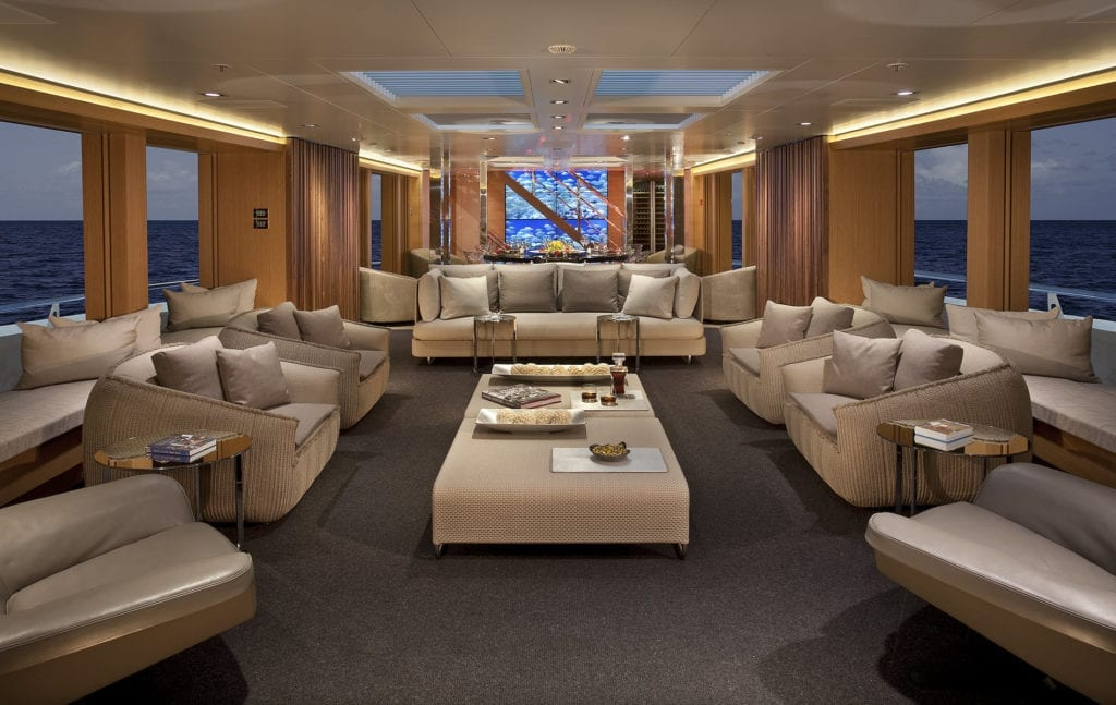 Main Salon on board Big Fish Yacht