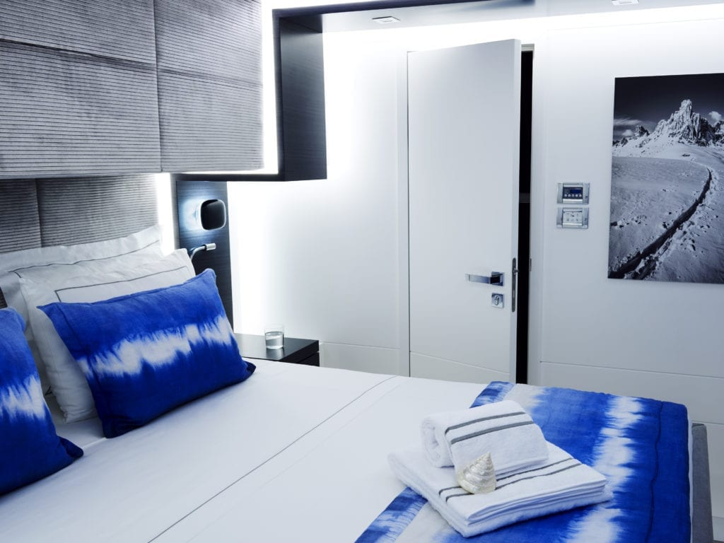 blue deer sea lodge italy double bedroom interior