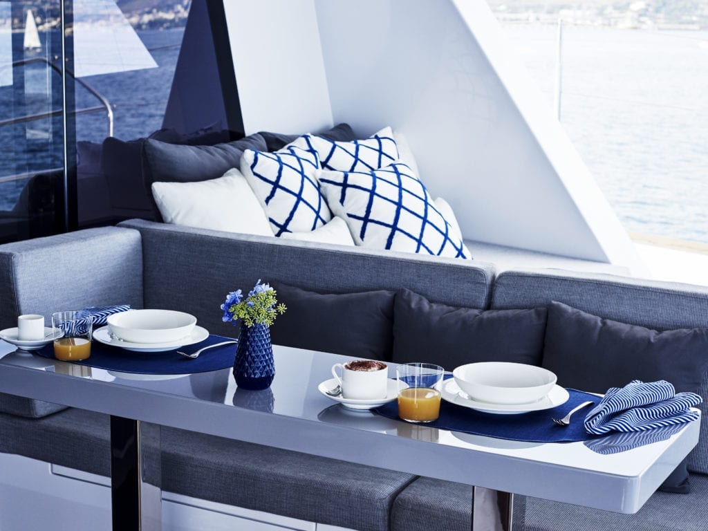 interior blue deer sea lodge italy