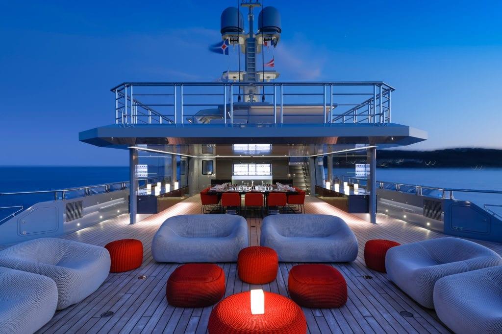Bold Yacht Exterior Deck Lounge © Guillaume Plisson