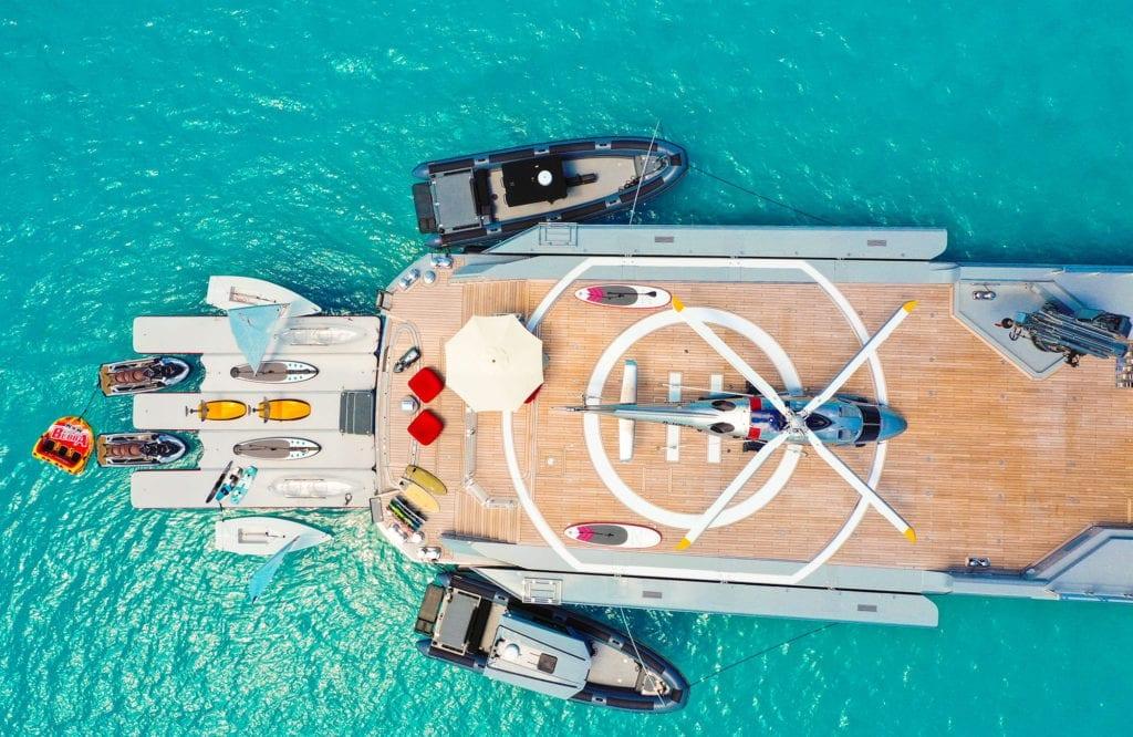 Bold Yacht Exterior Aerial Helipad