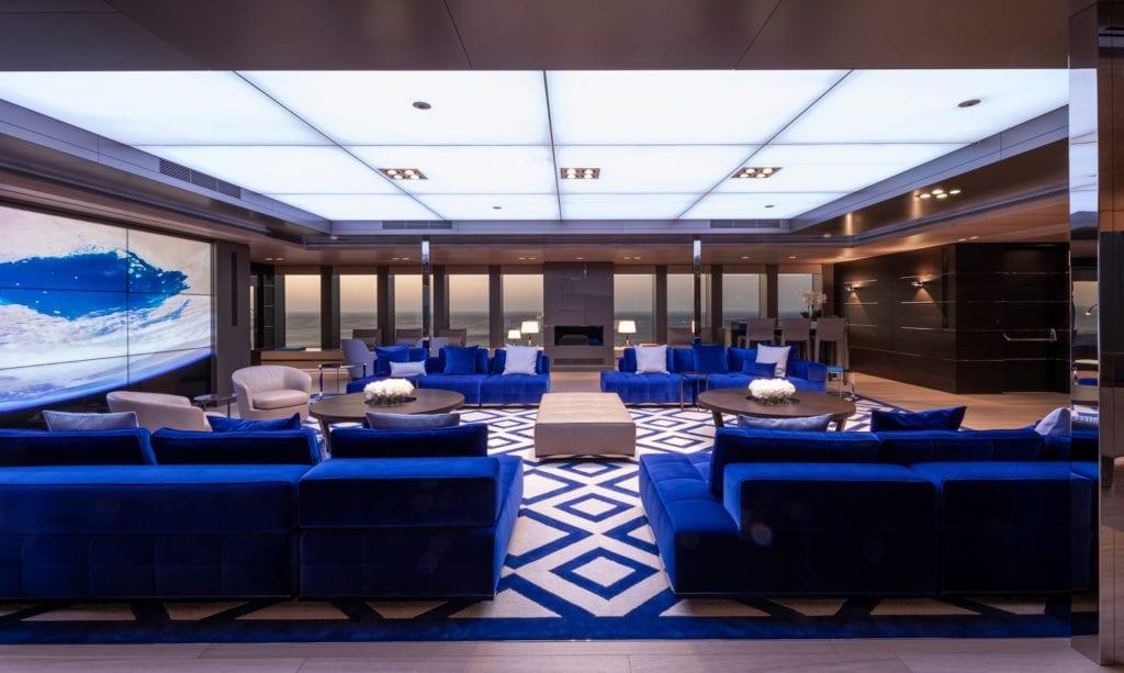 Bold Yacht Interior Lounge
